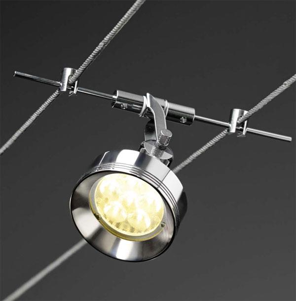 Die Leuchten -Teil 1- des Seilsystems LIGHT-LINE von Oligo